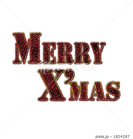 豹柄メリークリスマス枠付き赤