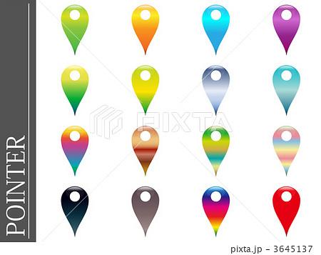 目印 虹色 イラスト ピンのイラスト素材 - PIXTA