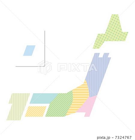 地図 日本地図 日本列島 かわいいの写真素材 Pixta