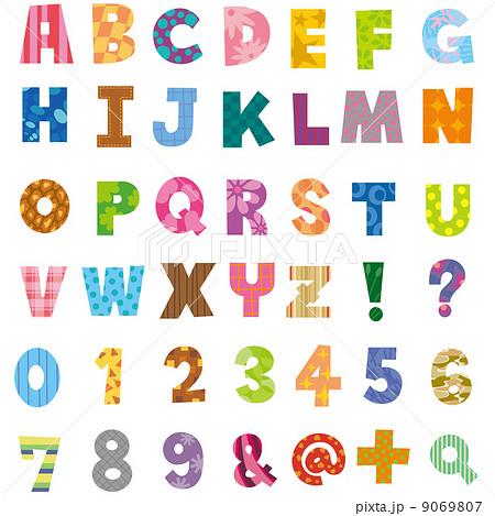 アルファベット 小文字 かわいい イラスト ローマ字 英語の写真素材 Pixta