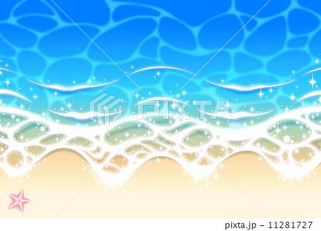 ベクター 波打ち際 波 砂浜のイラスト素材 Pixta