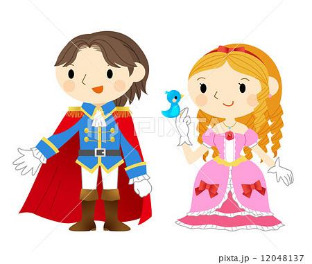 王子 姫 お姫様 姫様 ドレスのイラスト素材 Pixta