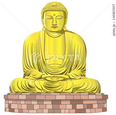 鎌倉大仏のイラスト素材 Pixta