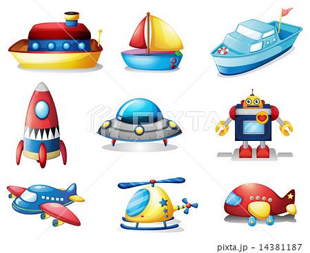 ロケット 宇宙船 かわいい カラフルのイラスト素材 Pixta