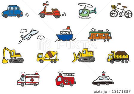 消防車 救急車 パトカー 乗り物のイラスト素材 Pixta