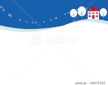 冬景色 雪景色 積雪 グラフィックのイラスト素材 Pixta