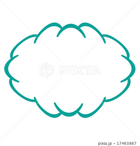 モクモク フレームのイラスト素材 Pixta
