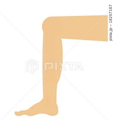 膝を曲げるのイラスト素材 Pixta