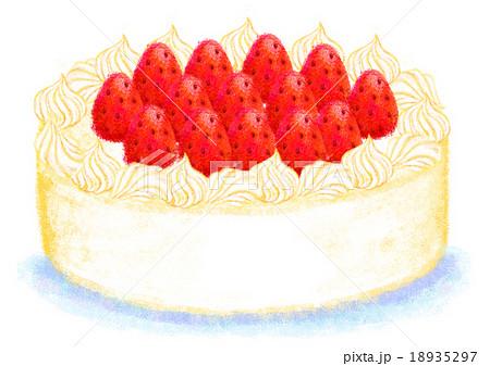 イチゴケーキのイラスト素材 Pixta