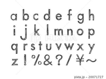 英字 アルファベット かわいいのイラスト素材 Pixta