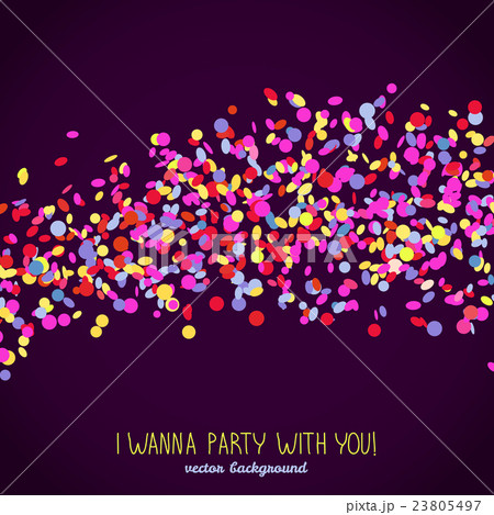 i wanna party with you banner with copy space のイラスト素材