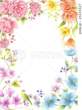 四季の花飾り系1のイラスト素材 24233327 Pixta