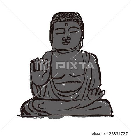 大仏仏像のイラスト素材集 Pixtaピクスタ