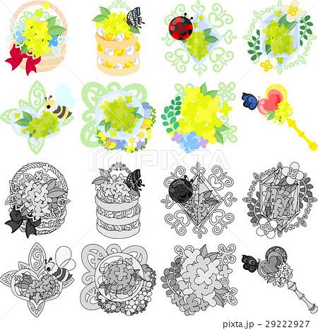 花かご イラストのイラスト素材 Pixta
