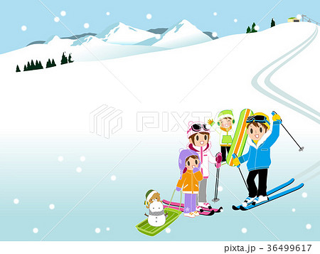 スキー場のイラスト素材集 Pixtaピクスタ