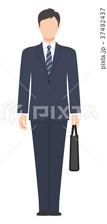 スーツ姿のイラスト素材 Pixta