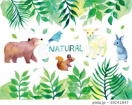 かわいいハナバチカットイラスト夏の自然背景 イラストレーションの