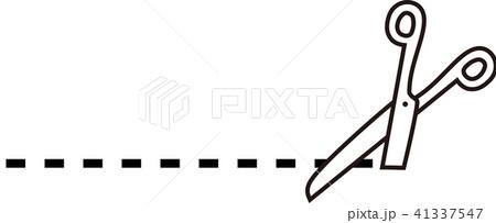 切り取り線のイラスト素材 Pixta